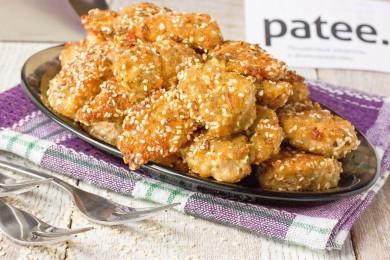 Рецепт Маринованное куриное филе, обжаренное в кунжутной панировке