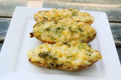 Рецепт Картофельные лодочки с брокколи