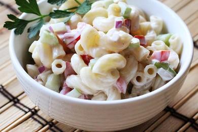 Рецепт Овощной салат с макаронами