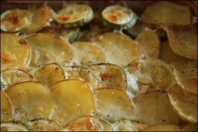 Рецепт Гратен из картофеля с кабачками
