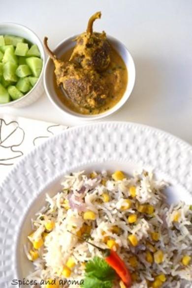 Рецепт Рисовый плов с кукурузой