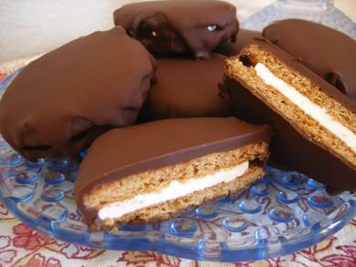 Рецепт Печенье с зефиром и шоколадом