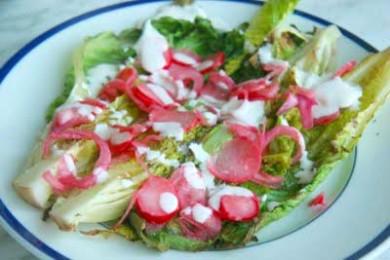 Рецепт Салат из латука с редисом
