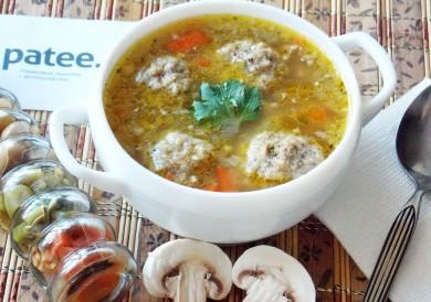 Рецепт Суп с грибными галушками