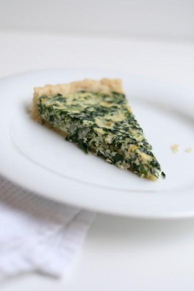 Рецепт Лоранский пирог со шпинатом