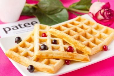 Рецепт Бельгийские вафли ( на дрожжевом тесте) — рецепт для вафельницы