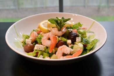 Рецепт Греческий салат с креветками