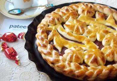Рецепт Сдобный дрожжевой пирог с повидлом