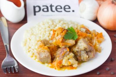 Рецепт Свинина, тушенная с овощами в сметане