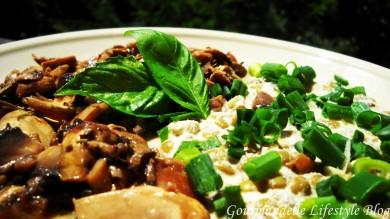 Рецепт Чечевица с кешью и маринованными грибами