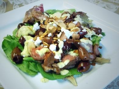 Рецепт Салат из баранины с айоли