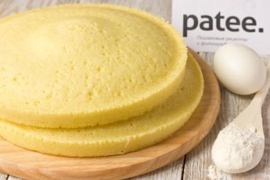 Рецепт Бисквит для торта в микроволновке