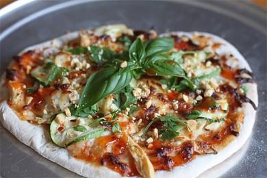 Рецепт Пицца с курицей по-тайски
