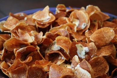 Рецепт Картофельные чипсы с сыром