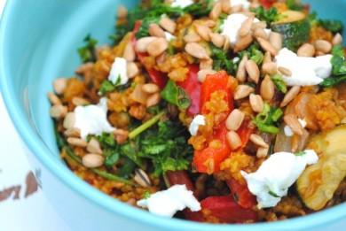 Рецепт Булгур с овощами и зеленью