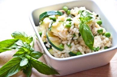 Рецепт Ризотто с грибами и кабачком