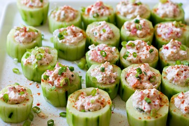 Рецепт Чашечки из огурцов с крабовым салатом