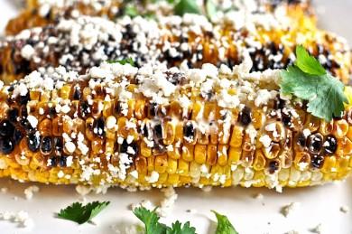 Рецепт Жареная на гриле кукуруза с беконом и сыром Котиха