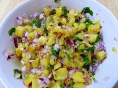 Рецепт Сальса с ананасом-гриль