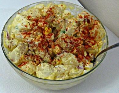 Рецепт Картофельный салат с яйцом