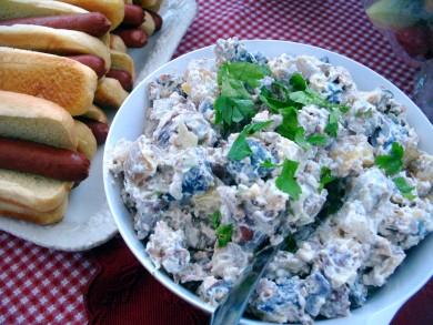 Рецепт Картофельный салат с зеленью