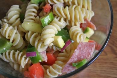 Рецепт Итальянский салат из пасты с овощами