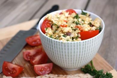 Рецепт Салат из цветной капусты с помидорами