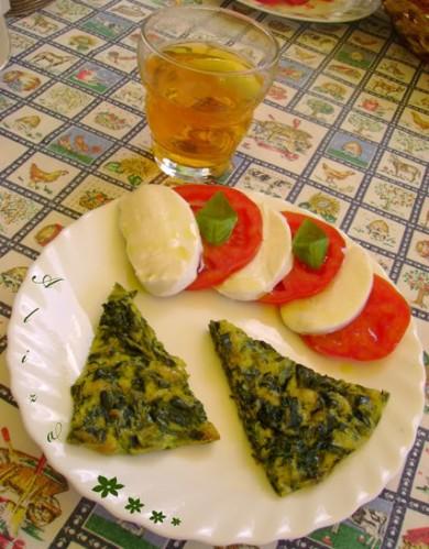 Рецепт Запеканка из шпината с рукколой