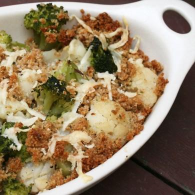 Рецепт Гратин из цветной капусты с брокколи
