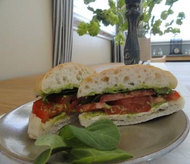 Рецепт Вегетарианский сендвич