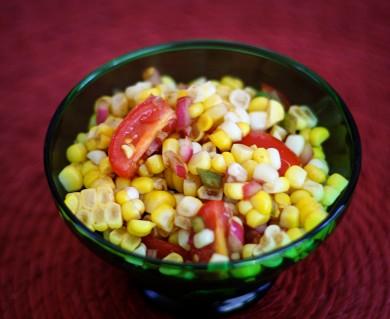 Рецепт Салат со сладкой кукурузой