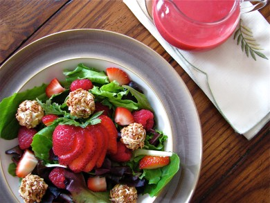 Рецепт Фруктовый салат с козьим сыром