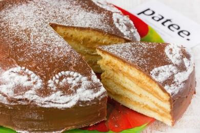 Рецепт Торт Ириска с шоколадной глазурью