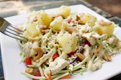 Рецепт Куриный салат с брокколи и ананасами
