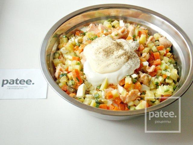 Салат из вареной форели рецепт