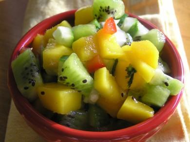 Рецепт Сальса с манго и киви