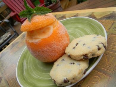 Рецепт Апельсин с мороженым