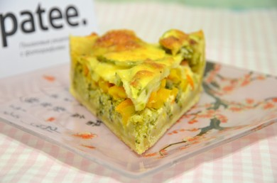 Рецепт Пирог-киш Овощная грядка