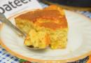 Пирог со сливами и фундуком