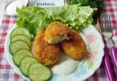 Картофельные котлеты с куриным мясом и зеленью
