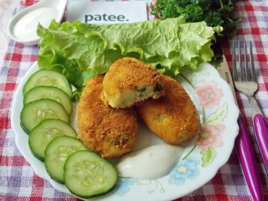 Рецепт Картофельные котлеты с куриным мясом и зеленью
