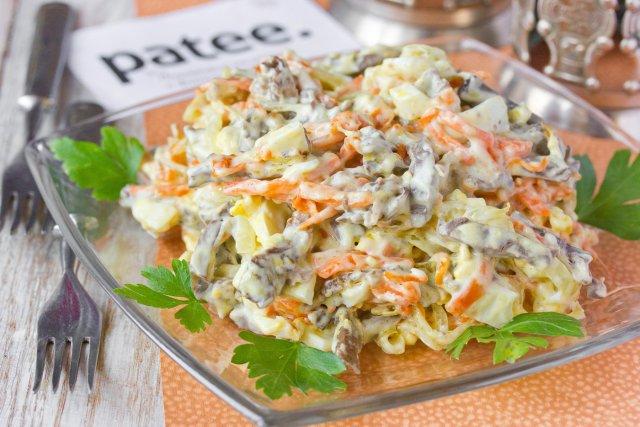 Салат с сердца рецепт очень вкусный с огурцами