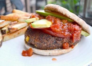 Рецепт Вегетарианские бургеры с бобами