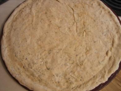Рецепт Тесто для пиццы с зеленью