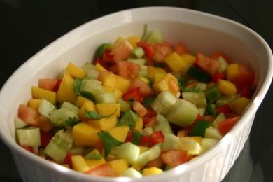 Рецепт Сальса с манго и ананасом