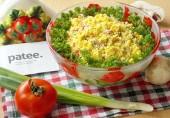 Салат с салями и помидорами Лидия