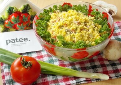 Рецепт Салат с салями и помидорами Лидия