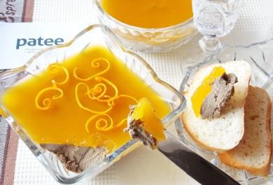 Рецепт Паштет из куриной печени с апельсиновым желе