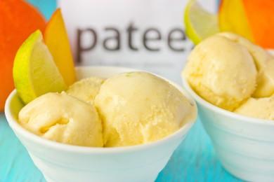 Рецепт Домашнее мороженое с манго и лаймом