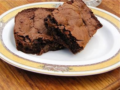 Рецепт Брауни с арахисовым маслом и карамелью